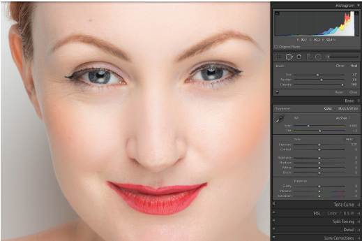 quick fix blemish and red eye removal in lightroom cc rockynook